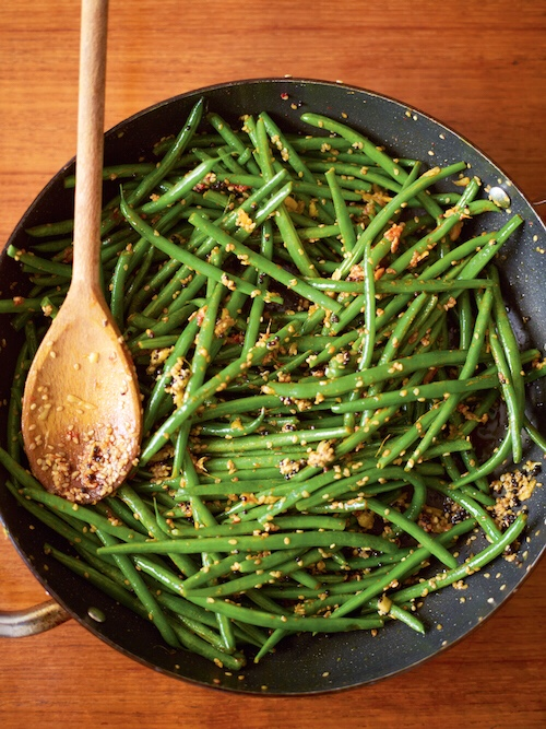 Mustard Seed Sauteed Green Beans